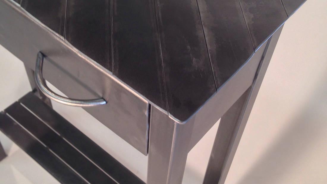 metal side table