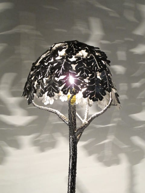 metal floor lamp tree design