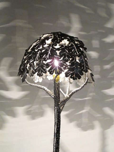 metal floor lamp tree design
