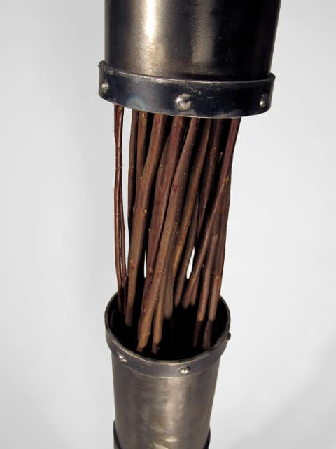 tall metal floor vase