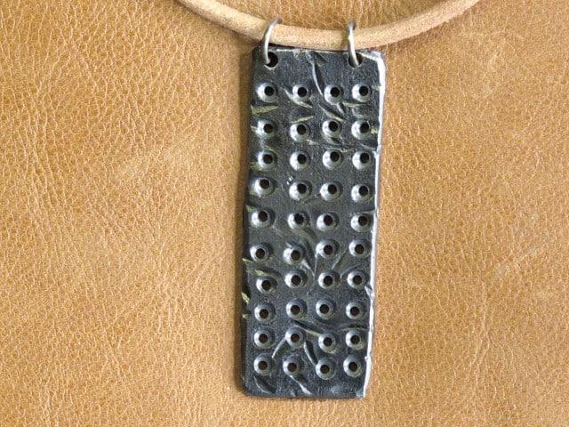 scrap metal necklace rectangle