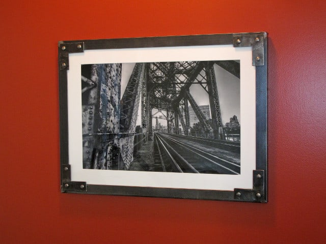 large metal picture frame wall art