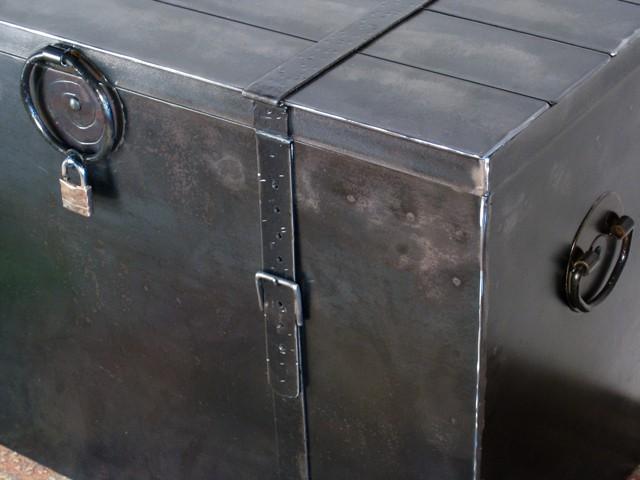 custom metal chest with lock