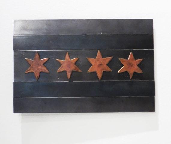 chicago steel flag artwork