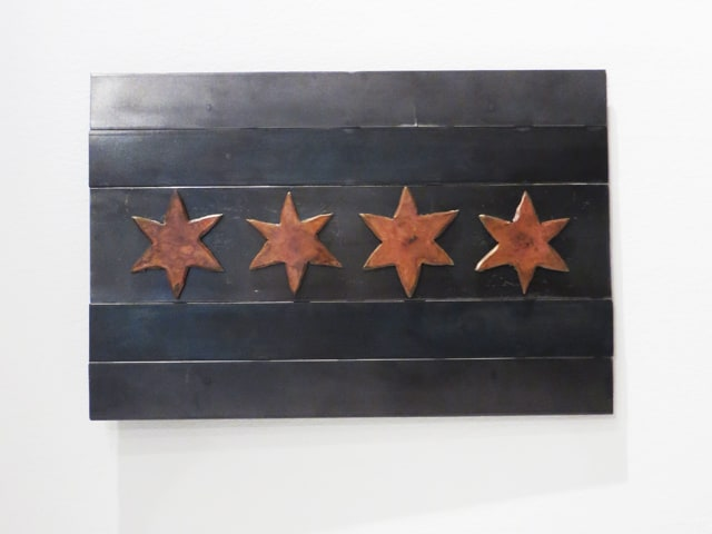 chicago steel flag artwork