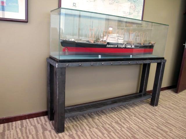 custom large metal display stand