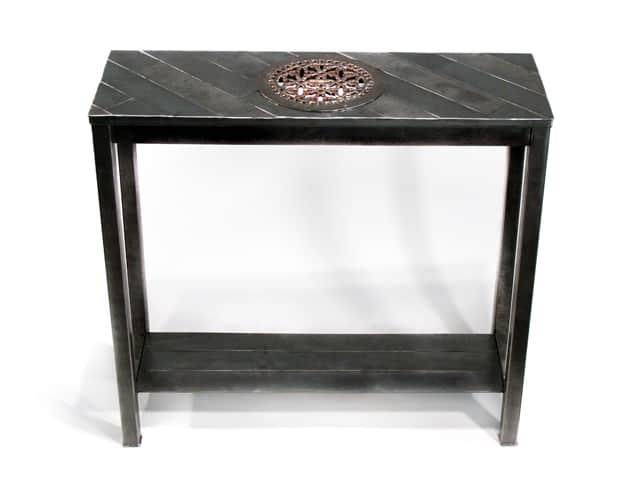 custom tall steel entryway table