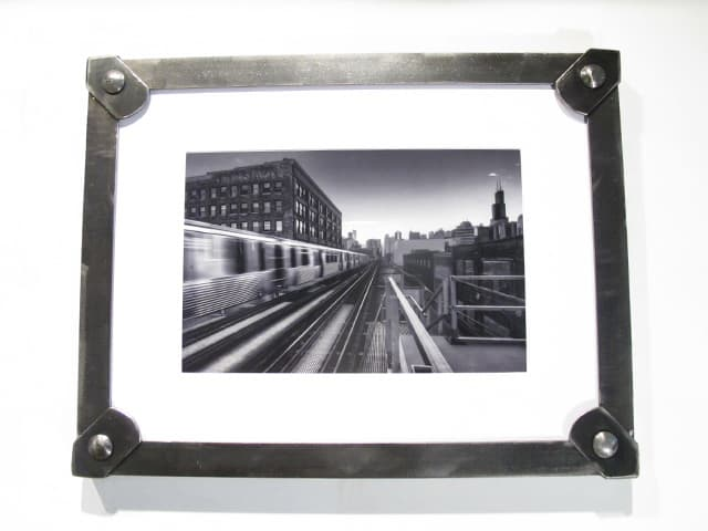 hanging brushed steel picture frame