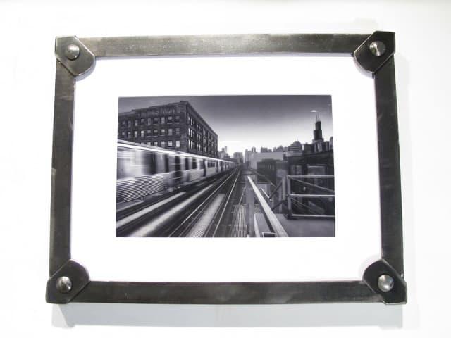 hanging brushed steel picture frame