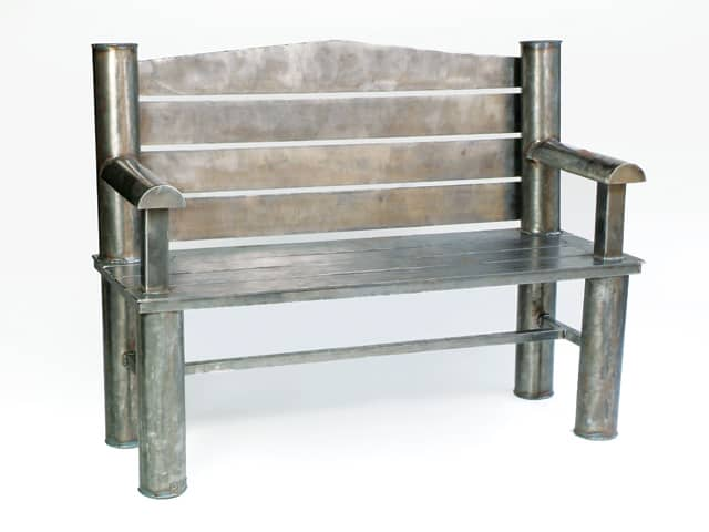 custom large steel bench