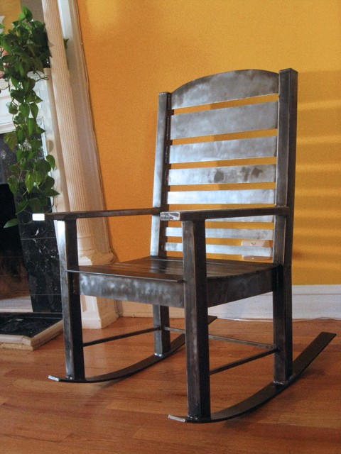 custom metal rocking chair