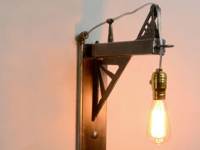 industrial metal wall light