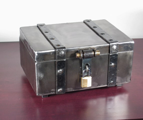 metal keepsake box with lock