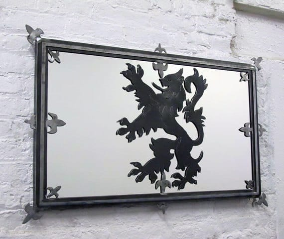 steel scottish flag mirror