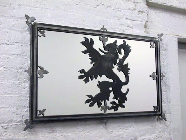 steel scottish flag mirror