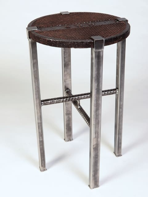 manhole metal end table