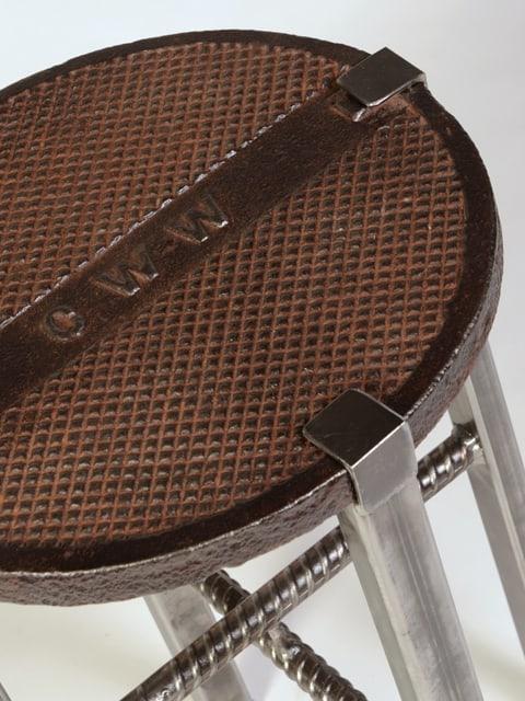 manhole metal end table