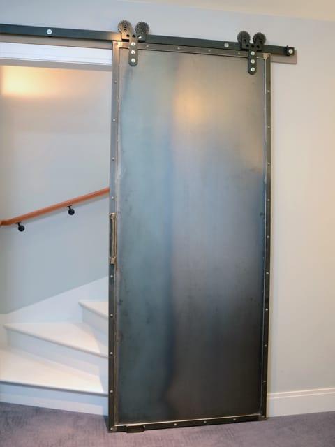 custom steel indoor barn door