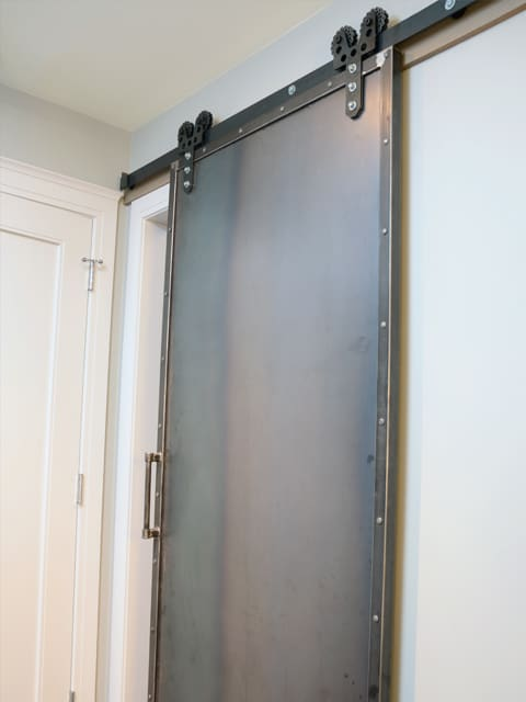custom steel indoor barn door