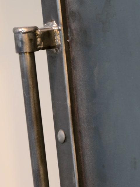 custom brushed steel barn door