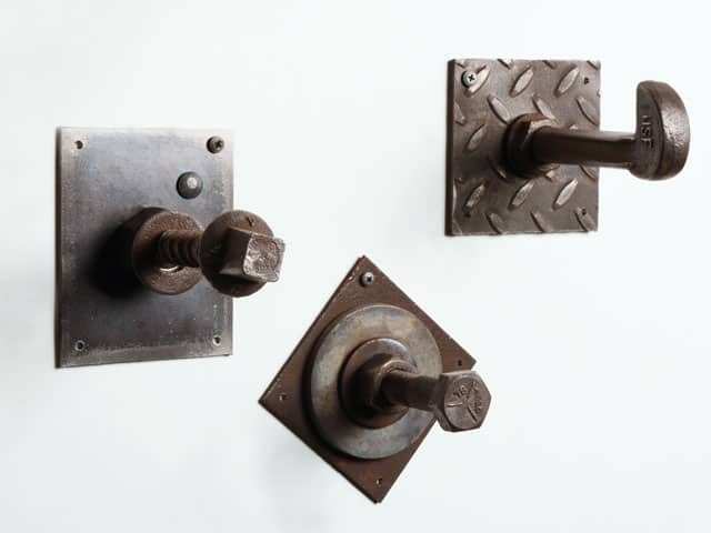 salvaged metal wall hook