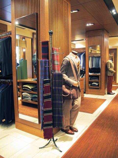 metal display rack for scarves