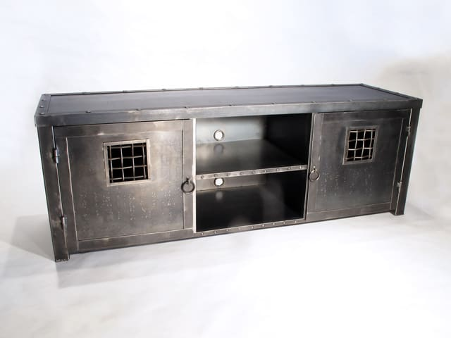 large steel tv stand