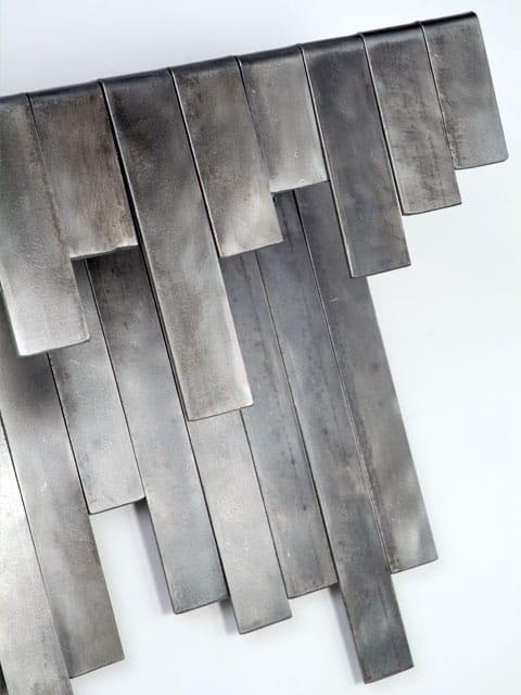 gradient steel shelf