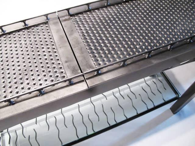 steel table inspired by bridge