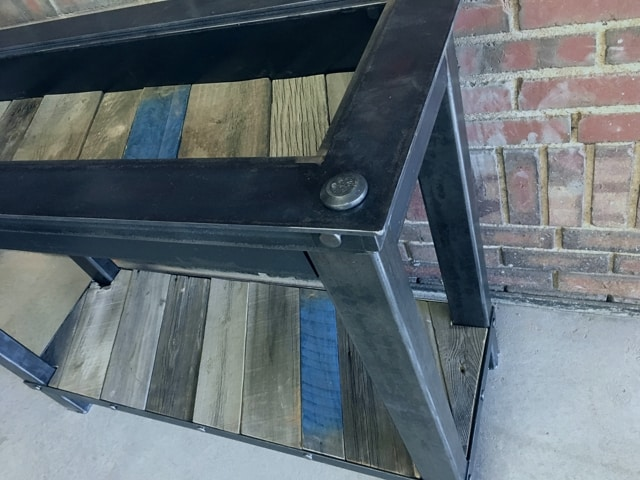 Pallet Wood Shadowbox Couch Table