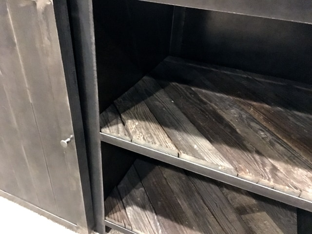 Salvaged-Barnwood-Shelves-Brushed-Steel-Buffet