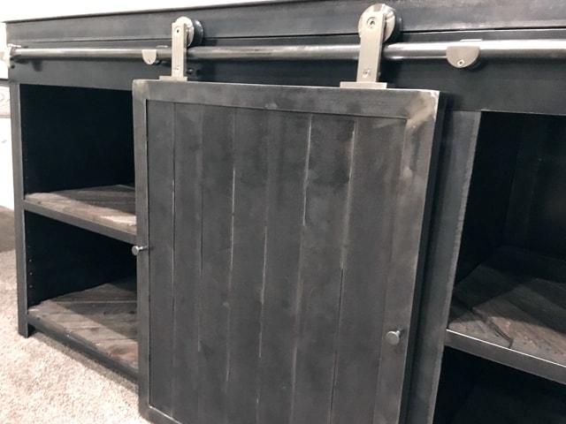Custom-Steel-Barndoor-Wine-Fridge-Cabinet