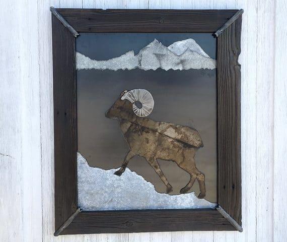 Salvaged-Metal-Wood-Mountain-Animals-Art